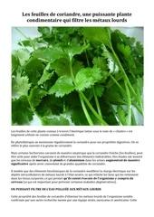 Fichier PDF les feuilles de coriandre une puissante plante condimentaire qui filtre les metaux lourds