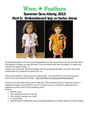 summer sew along 2013 part 5 boho blouse dress