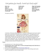 Fichier PDF sweet sue bird dress pattern