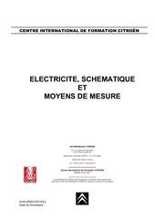 electricite et schematique moyens de mesure