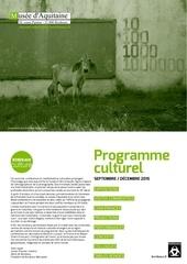 programme culturel 2015 electro