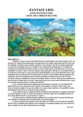 fantasy life astuces hl