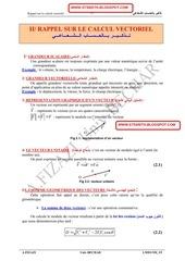2 rappel sur le calcul vectoriel www stsmsth blogspot com