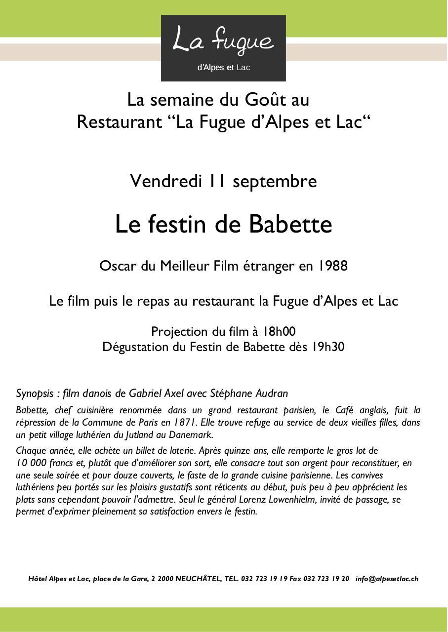 BABETTE FESTIN FILM DE TÉLÉCHARGER GRATUITEMENT LE