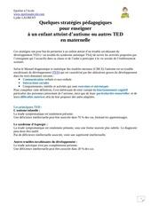 Fichier PDF strategies pour enseigner aux enfants avec autisme en maternelle