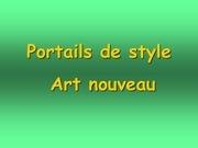 portails de style art nouveau