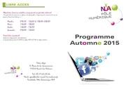 programme automne 2015