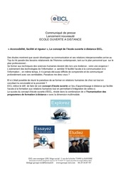 communique de presse lancement ecole ouverte 0114