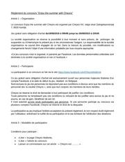 reglement concours fr