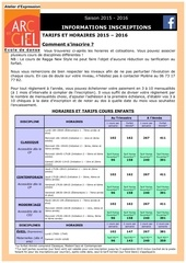 dossier d inscription aec 2015 2016