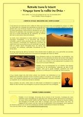 fiche voyage desert