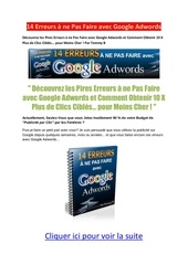 14 erreurs a ne pas faire avec google adwords