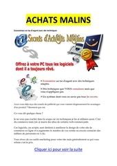 Fichier PDF achats malins