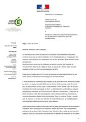 lettre de rentree inspection lettres aout 2015