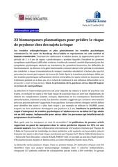 cp chsa upd biomarqueurs detection risque psychotique