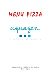 menu pizza aquazen