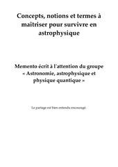 astrophysique 1 notions et termes a maitriser