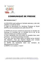 communiquE de presse laurent