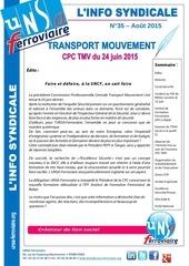 info syndicale n 35 transport mouvemen t