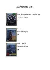 jeux xbox 360 a vendre