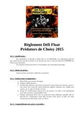 reglement float tube 2015 choisy