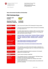 swiss scholarship