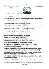 comite central du congres extraordinaire du 04 mars 2015 2