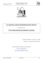 la distillation moderne des fruits