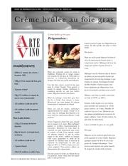 creme brulee au foie gras bordeaux fete le vin