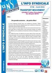 info syndicale n 36 tmv infra circulation