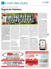 sportsland pays basque rugby st pee