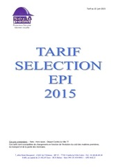 selection epi gants tarif juin 2015