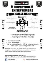 Fichier PDF flyer crossfit arawaks