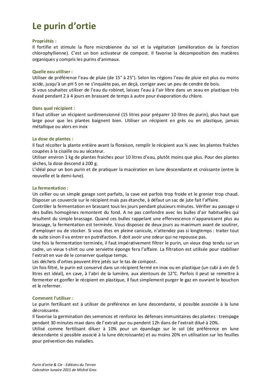 Le purin d 39 ortie par sakura le purin d ortie pdf fichier pdf - Purin d ortie utilisation ...