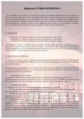 reglement xtrem ascension iii