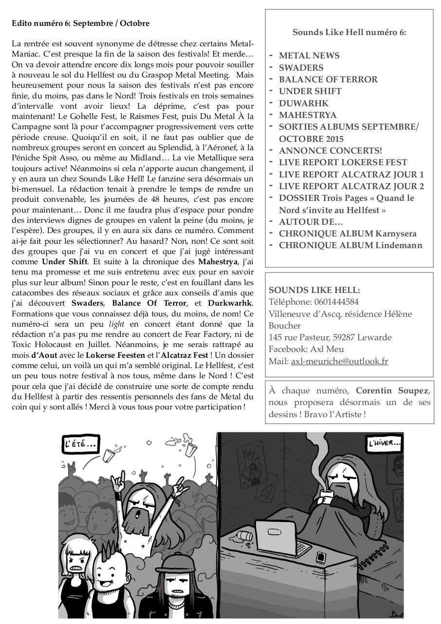 Sounds Like Hell n°6 (Septembre:Octobre) .pdf - page 3/34