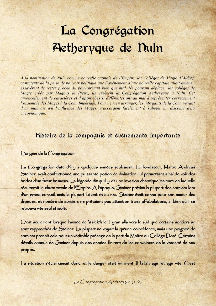 Aperçu du document La Congregation Aetheryque de Nuln (Custom).pdf - page 1/8
