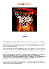 le basketball histoire et regles du jeu
