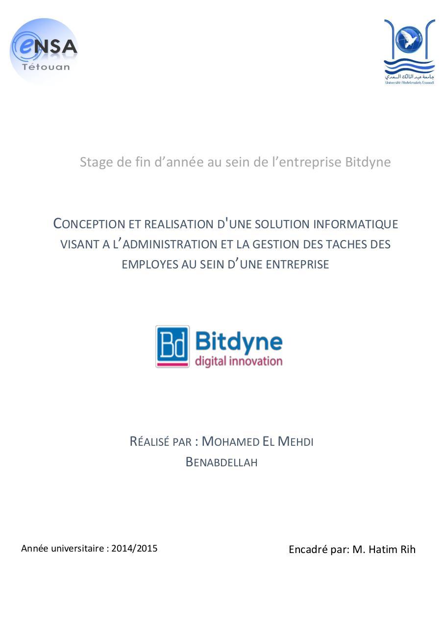 Recherche Pdf Rapport De Stage Sur Mon Projet Mecanique Auto