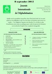 journee internationale de l alphabetisation