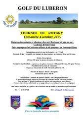 affiche du tournoi de golf 2015