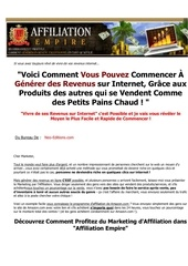 Fichier PDF affiliation empire