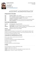 Fichier PDF cv adjoint administratif