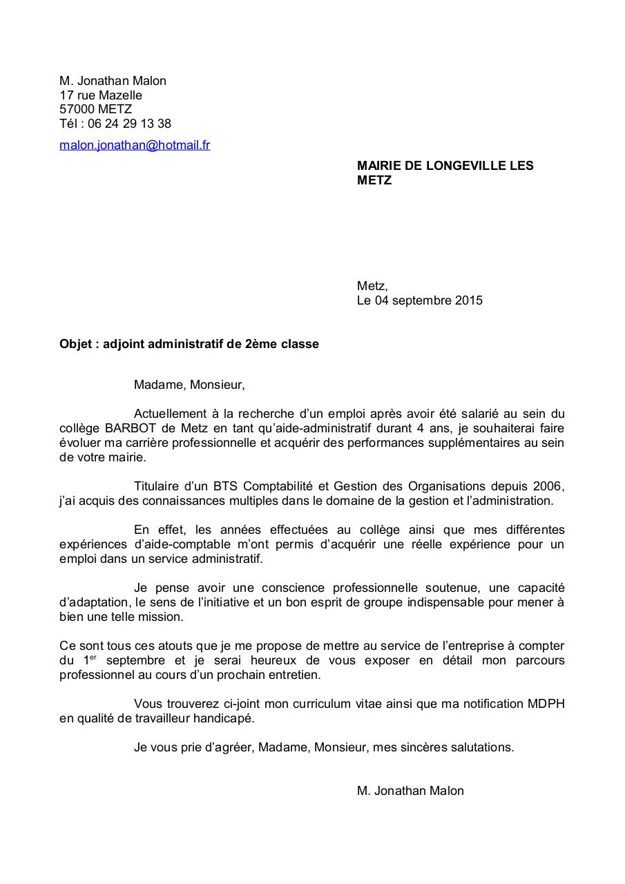 mod u00e8le courrier cdc par administrateur