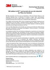 communique de presse 40 ans 3m a tilloy 04 09 2015