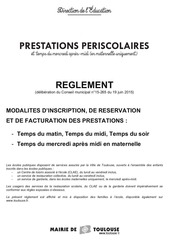 reglement inscription et facturation