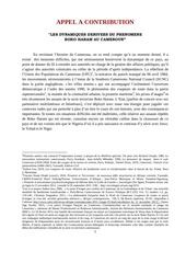 Fichier PDF appel a contribution sur le phenomene boko haram au cameroun
