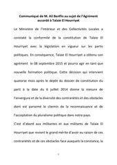 Fichier PDF communique de m ali benflis au sujet de l agrement accorde a talaie el hourriyet