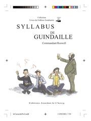 syllabus de guindaille commandant roswell 2002