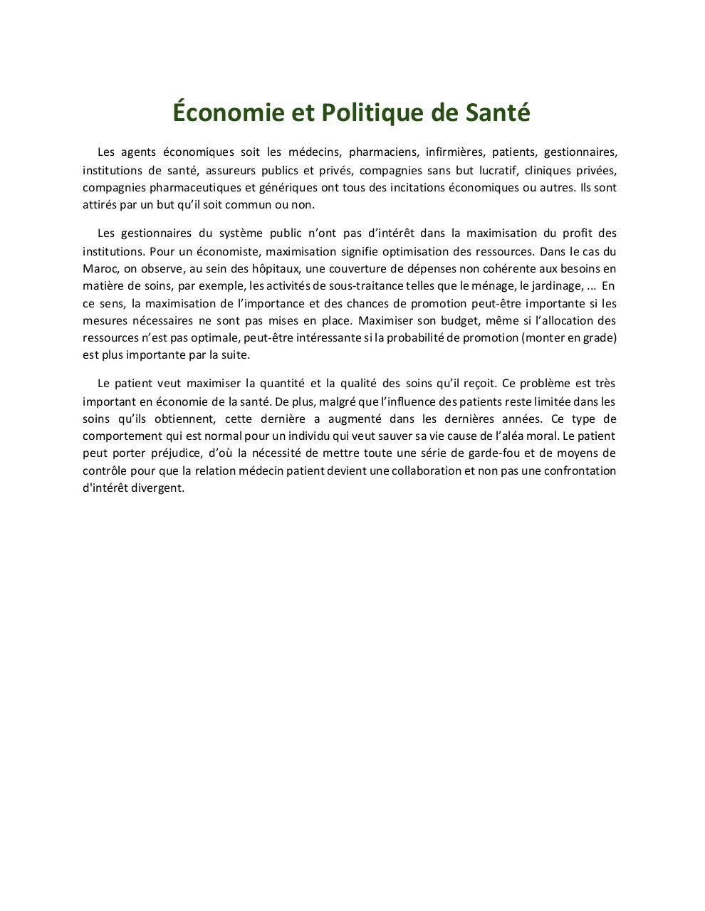 economie et politique de sant s ance 4 fichier pdf. Black Bedroom Furniture Sets. Home Design Ideas